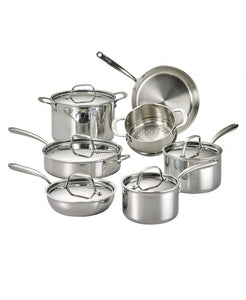 Lagostina Tri-Ply Stainless Steel Multiclad 12pc Cookware Set
