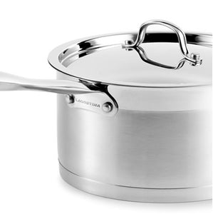 Stainless Steel lids that lock in flavour and nutrients during cooking process. Tight Seal