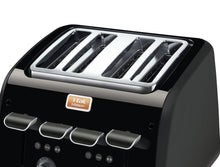 Load image into Gallery viewer, T-fal TT770HCA 4 slice Maison Toaster Black/Stainless Steel