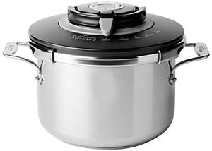 All-Clad PC8 Precision Stainless Steel Pressure Cooker Cookware, 8.4-Quart, Silver