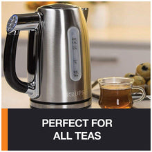 Load image into Gallery viewer, KRUPS BW710D51 1.7L Adjustable Temperature Kettle, Silver