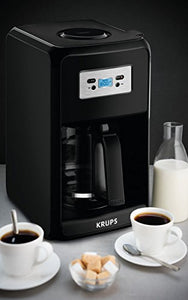 KRUPS EC3110 12-Cup Glass Carafe Programmable Coffee Maker, Black