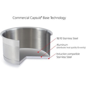 Commercial Capsule Base. Extra thick aluminum base for maximum heat retention and conductivity during cooking process