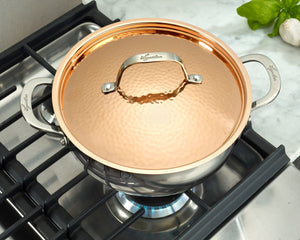 Lagostina Copper Elegance 10 piece Pots and Pans cookware set, induction base