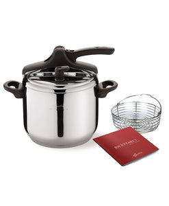 Lagostina Maga 7L Pressure Cooker with Basket and Recipe Book