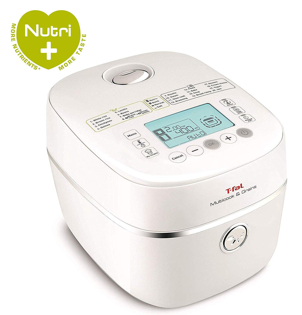 T-fal RK900151 Rice cooker, Multicook & Grain 8cup White