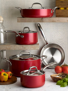 Lagostina Rossella 26cm Sauté Pan, Made in Italy, RUBY RED