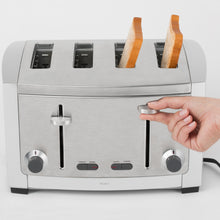 Load image into Gallery viewer, All-Clad TJ804D Stainless Steel 4-Slice Toaster with 6 Browning Control Settings and Frozen Bread and Bagel Functions