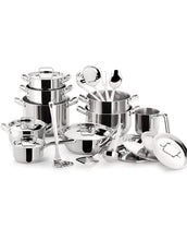 Load image into Gallery viewer, Lagostina Sfiziosa 24pc Stainless Steel Cookware Set