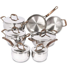 Load image into Gallery viewer, Lagostina Bronze Elegance Stainless Steel 12-Piece Cookware Set