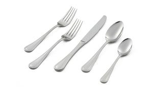 Lagostina Siena 20pc Serving Dinner Flatware Set, 18/10 Stainless Steel, 5-Piece Place Settings for 4 People (Salad Fork, Dinner Fork, Dinner Knife, Dinner Spoon and Tea Spoon), Silver