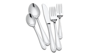Lagostina Modena 20 Piece Stainless Steel Dinner Flatware Set, 18/10 Stainless Steel, 5-Piece Place Settings for 4 People Salad Fork, Dinner Fork, Dinner Knife, Dinner Spoon and Tea Spoon, Silver