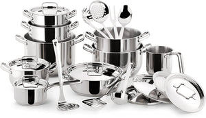 Lagostina Sfiziosa 24pc Stainless Steel Cookware Set