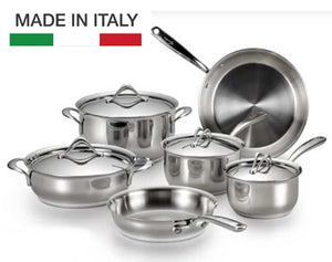 Lagostina Opera Stainless-Steel 10-Piece Cookware Set * PRE-ORDER BLK FRIDAY DEAL