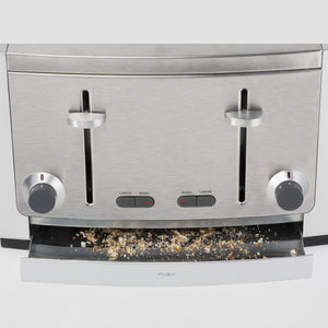 All-Clad TJ804D Stainless Steel 4-Slice Toaster with 6 Browning Control Settings and Frozen Bread and Bagel Functions