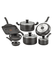 Load image into Gallery viewer, T-Fal Initiatives 10-Piece Aluminium Cookware Set - Grey