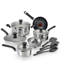 Load image into Gallery viewer, T-fal C911SE54 Simply Cook Stainless Steel 14pc Cookware set