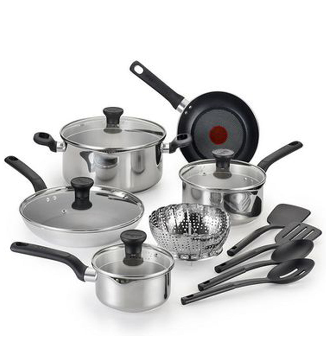 T-fal C911SE54 Simply Cook Stainless Steel 14pc Cookware set