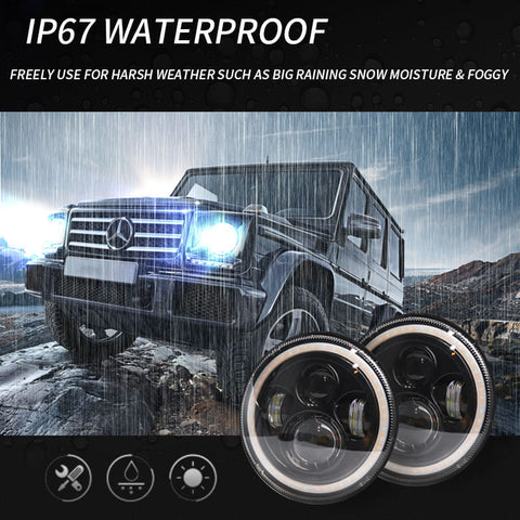 NINTE 280W LED headlights waterproof