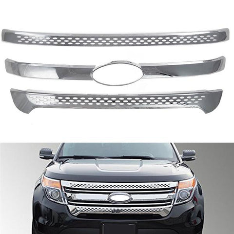 Grill Covers For 2011 2012 2013 2014 2015 Ford Explorer Chrome Grille Overlay
