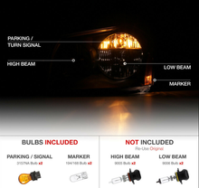 Load image into Gallery viewer, For 05-07 Dodge Magnum SE SRT SXT RT [SINISTER BLACK] Smoke Headlights Assembly - NINTE