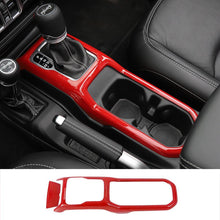 Laden Sie das Bild in den Galerie-Viewer, Ninte Jeep Wrangler JL 2018-2019 Gear Shift Box Panel Cover Trim Strips Garnish Decoration Protection - NINTE