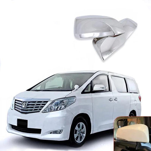 NINTE 2Pcs Car Electroplating Rear View Side Mirrors Decorative Cover Trim For Toyota Alphard 2015-2018 - NINTE