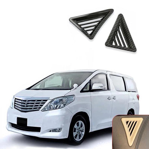 NINTE 2Pcs Left Drive Car Inner Front Air Outlet Vent Cover Trim For TOYOTA Alphard 2015-2018 - NINTE
