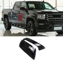 Load image into Gallery viewer, NINTE GMC Sierra 1500 2014-2018 & Chevrolet Silverado 1500 Gloss Black ABS Rear view Mirror Replacement Covers - NINTE