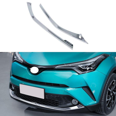 Chrome Auto Part for 2016 2017 2018 TOYOTA C-HR CHR Front Bumper Cover Trim Moulding Car Styling Accessories - NINTE