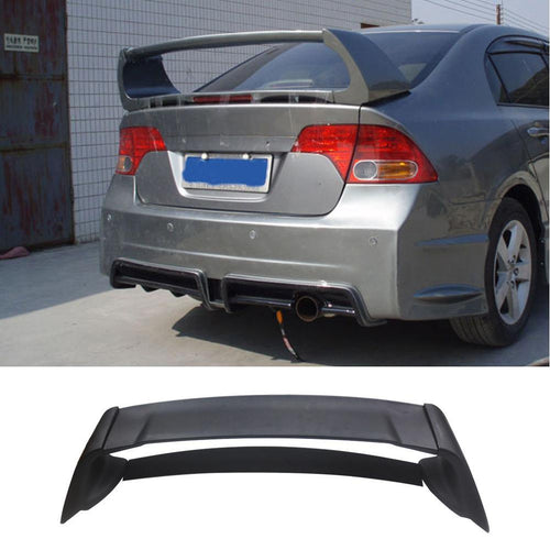 Mugen style RR Rear Trunk Spoiler Wing Lip Unpainted for 06-11 Honda Civic 4DR - NINTE