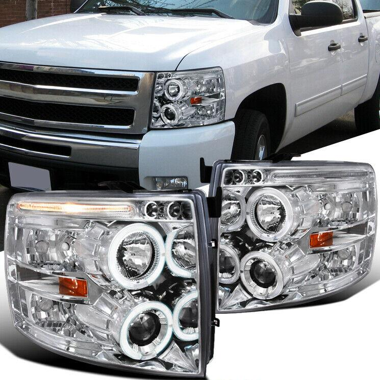 NINTE Headlight For Chevy 07-14 Silverado 1500 2500 3500