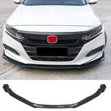 NINTE For 2018 19 Honda Accord Front Bumper Chin Lip Spoiler Wing Carbon Fiber Pattern 3 Pieces - NINTE