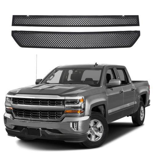 NINTE Chevy Silverado 1500 2016-2018 Gloss Black Stick-On Grille Overlay Covers - NINTE