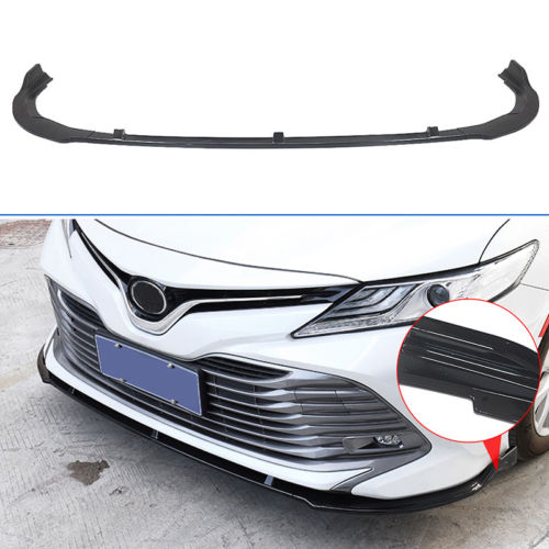 NINTE Front Bumper Chin Lip Cover Gloss Black 3 Pieces For 2018 2019 Toyota Camry L/LE/XLE - NINTE
