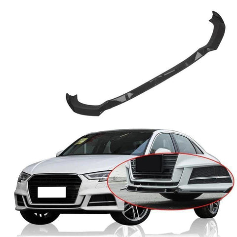 NINTE Front Lip for 2017-2018 Audi A3 Sline S3 Sedan 4 Doors - ABS Bumper Spoiler Splitter 3pcs - NINTE