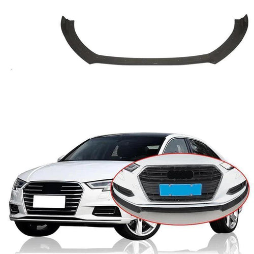 NINTE Painted Front Lip for 2017-2019 Audi A3 Base Sedan 4 Doors - ABS Bumper Spoiler Splitter 3pcs - NINTE