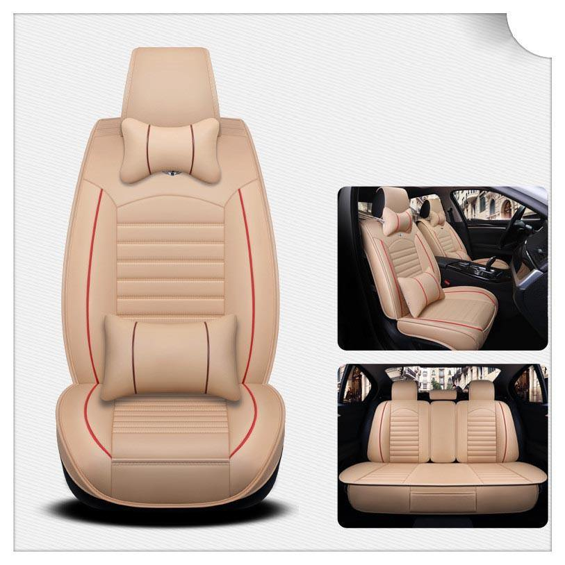 NINTE Universal PU Leather Full Set 5D 5-Seats Car Protector Cushion Seat Cover - NINTE