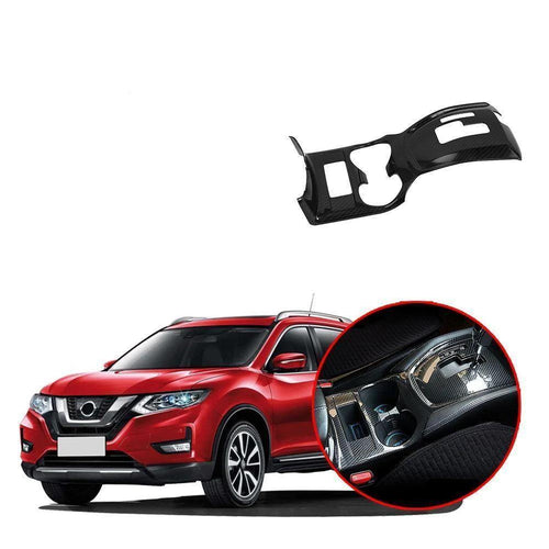 Car Gear Shift Box Panel Interiors Carbon Fiber Decorative Cover Trim Frame For Nissan Rogue X-trail 2017-2019 NINTE - NINTE