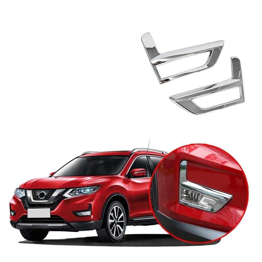 Exterior ABS Chrome Front Tail Fog Light Lamp Cover Trim For Nissan Rogue X-trail 2017-2019 NINTE - NINTE