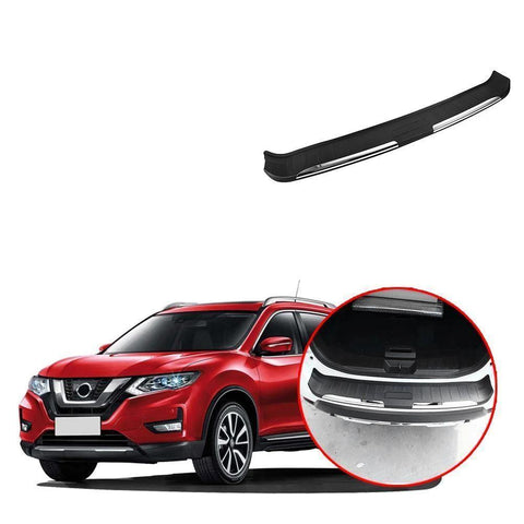 Black Outer Rear Bumper Guard Plate Protector For Nissan Rogue X-trail 2017-2019 NINTE - NINTE