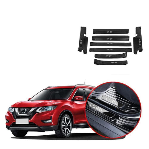 Threshold bar Stainless Steel Rogue Steel Rear Bumper Protector Sill fit For Nissan Rogue X-trail 2017-2019 NINTE - NINTE