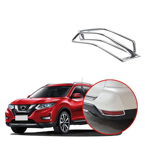 Exterior ABS Chrome Rear Tail Fog Light Lamp Cover Trim For Nissan Rogue X-trail 2017-2019 NINTE - NINTE
