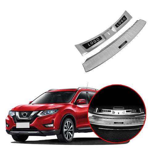 2PCS Rear Bumper Guard Sill Protector Plate For Nissan Rogue X-Trail 2017-2019 NINTE - NINTE