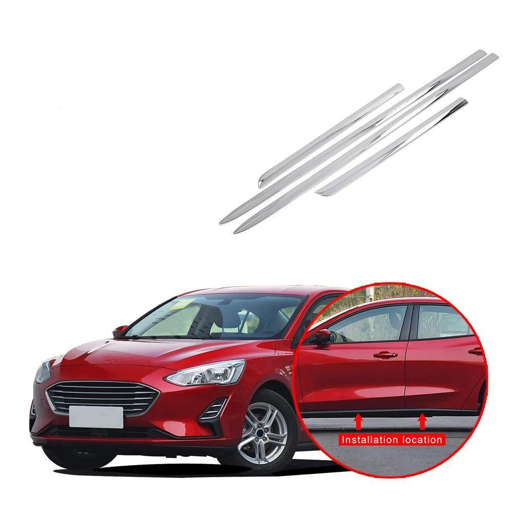 Ninte Ford Focus Sedan 2019 ABS Exterior Car Side Door Body Side Cover - NINTE