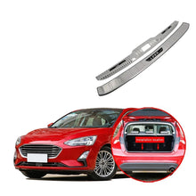 Stainless Steel Rear Trunk Bumper Protector Cover Trim For Ford Focus Hatchback 2019 - NINTE