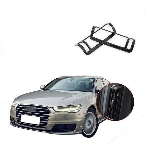NINTE Carbon Fiber Car B-pillar Air Outlet Frame Cover Trim For Audi A6L 2019 - NINTE