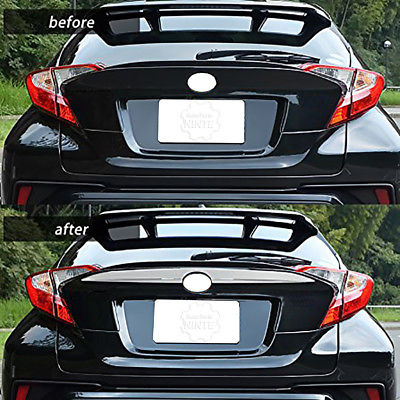 NINTE Chrome Rear Upper License Plate Cover Trim Overlay For 2016-2019 TOYOTA CHR C-HR - NINTE