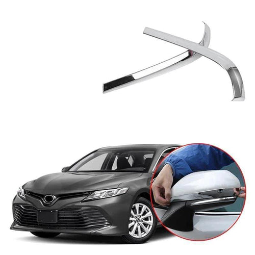 NINTE ABS Chrome Rearview Side Mirror Cover Trim Strip For Toyota Camry 2018-2019 - NINTE