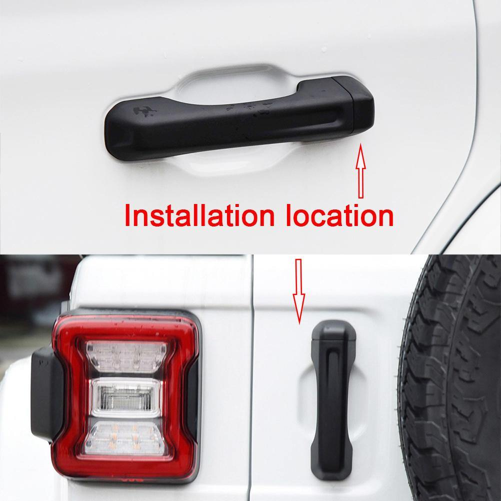 Ninte Jeep Wrangler JL 2018-2019 ABS Outer Door Bowl Cover - NINTE